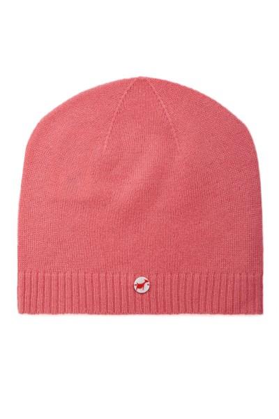 Kaschmirmütze Feinstrick hot pink