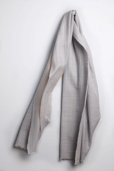 Kaschmirschal handspun silver grey