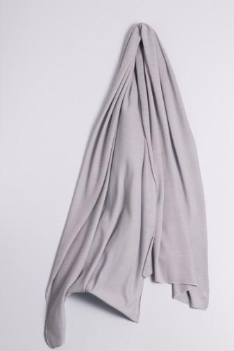 Kaschmirstola Feinstrick grau
