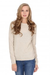 Women's round-neck cashmere sweater linen