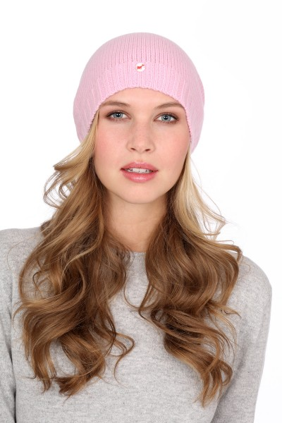 Fine Knit Cashmere Cap rosy pink