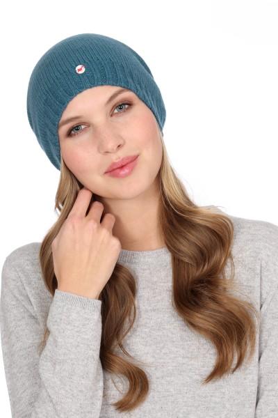 Fine Knit Cashmere Cap sapphire