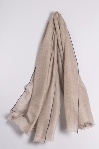 Eco-Shahtoosh Stripes Grey / Dress Blues