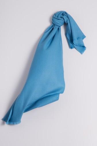 Pashmina 100% Cashmere ice blue