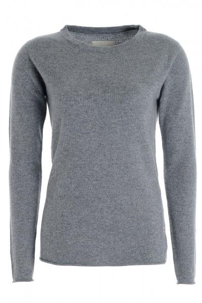 Women's long sleeve cashmere top uniform grey