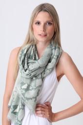 Pashmina Couture Print Python iceberg green
