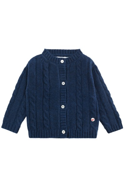 Cable knit cashmere jacket for babies astral