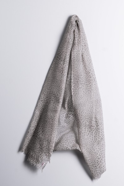 Hot Pashmina Print Leo chateau gray