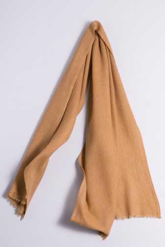 Natural camel wool shawl