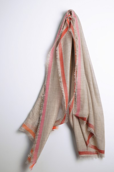 Eco-Shahtoosh Ligne Shawl Light Grey