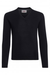 Men's V-neck cashmere sweater black