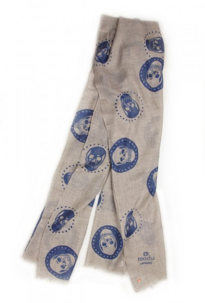 Eco-Shahtoosh Grey Skull Amparo Blue