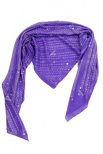 Carré Pearls dahlia purple