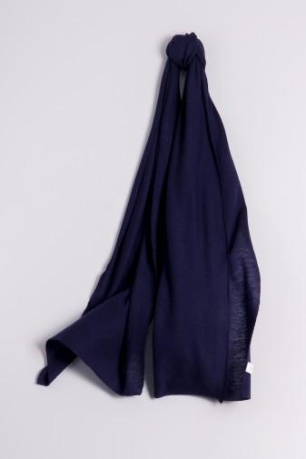 Kaschmirschal Feinstrick marineblau