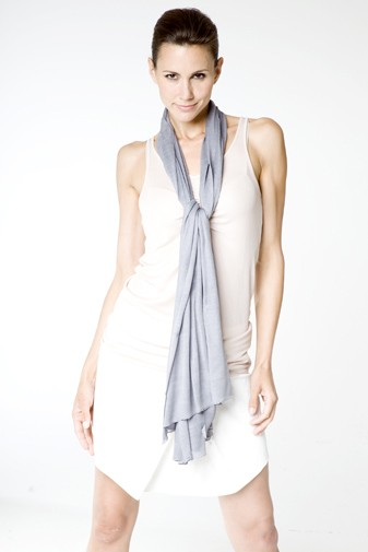 Jersey Silk Scarf cloud burst