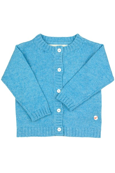 Baby Strickjacke Jersey air blue
