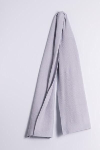 Kaschmirschal Rippstrick grau