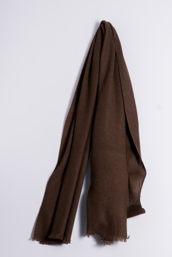 Natural yak wool shawl
