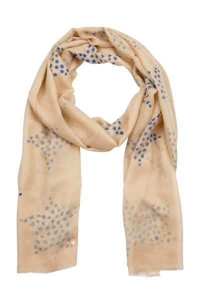 Eco-Shahtoosh Star Beige classic blue