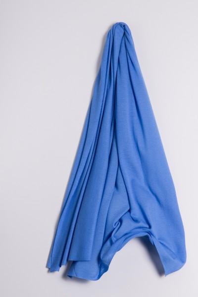 Kaschmirstola Feinstrick himmelblau
