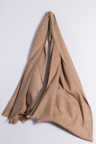 Natural cashmere shawl.