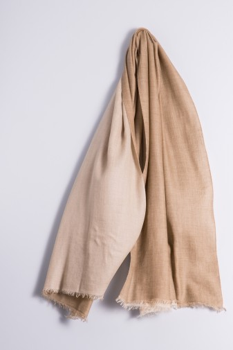 Pashmina Double light beige/light coffee