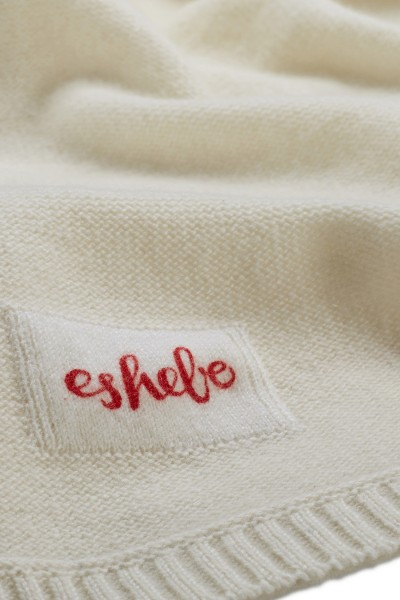 Cashmere baby blanket 80 × 80 cm offwhite