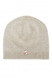Fine knit cashmere baby cap linen