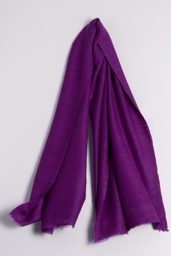 Hand spun Shawl purple