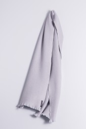 Winter Scarf 100% Cashmere silver gray