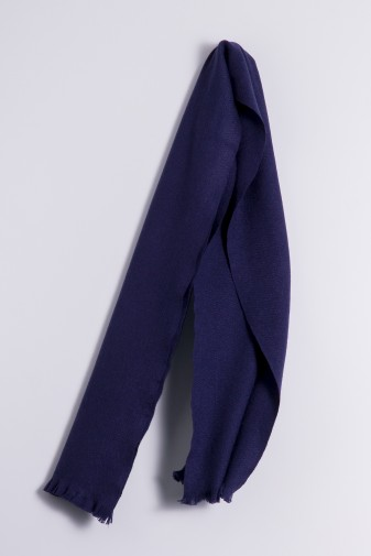 Winter Scarf 100% Cashmere navy