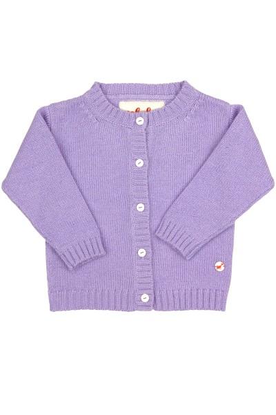 Baby Strickjacke Jersey lilac