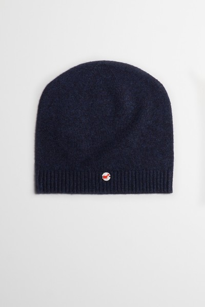 Fine knit cashmere baby cap astral