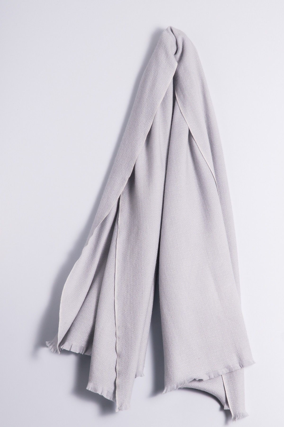 Winter Stole 100% Cashmere silver gray