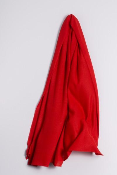Kaschmirstola Feinstrick rot