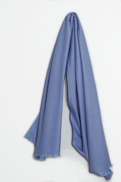 Pashmina Schal 100% Kaschmir oxford blue