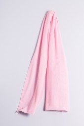 Cashmere ribbed scarf rose