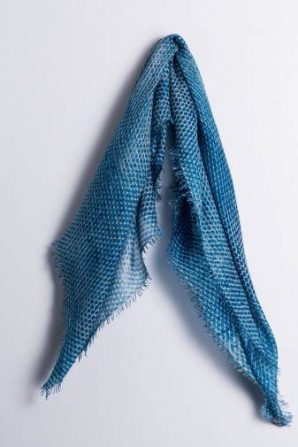 Eco-Shahtoosh Thaha Carré Jewel Blue