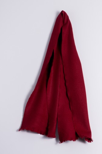 Winter Scarf 100% Cashmere bordeaux