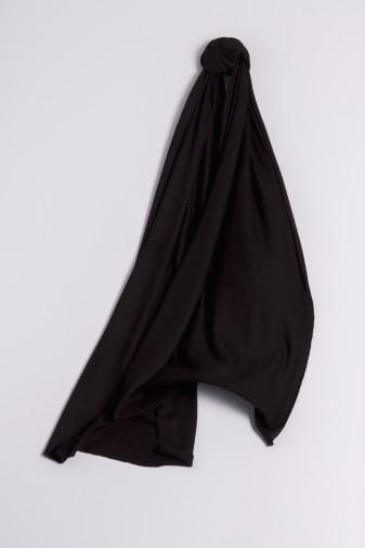 Kaschmirschal Feinstrick schwarz