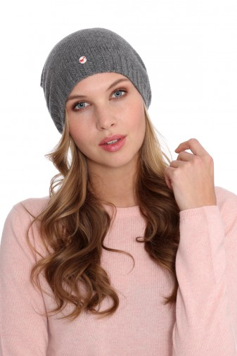 Fine Knit Cashmere Cap derby grey