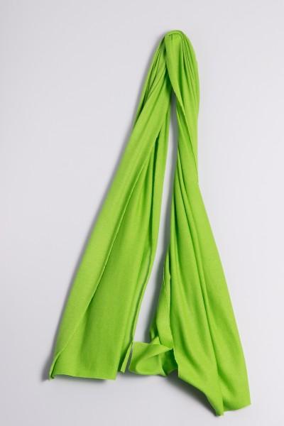 Kaschmirstola Feinstrick grasgrün