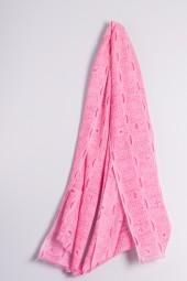 Ripp-Print Shawl sachet pink