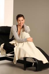 Cashmere blanket 110 × 210cm creme