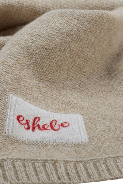 Cashmere baby blanket 80 × 80 cm linen