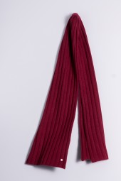 Cable Stitch Shawl 100% Cashmere burgundy