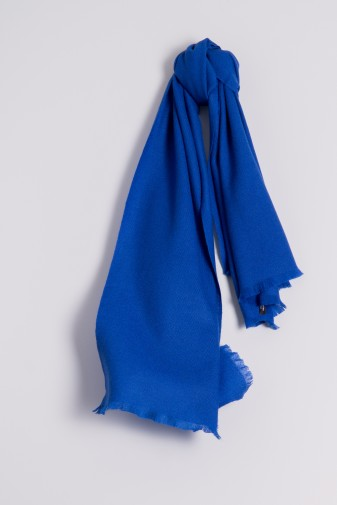 Pashmina Schal 100% Kaschmir royal blau