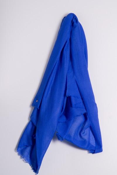 Pashmina Yamato 100% Cashmere dazzling blue