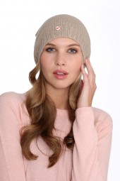 Fine Knit Cashmere Cap natural grey