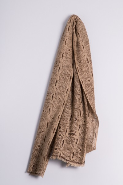 Ripp-Print Nature Shawl seal brown